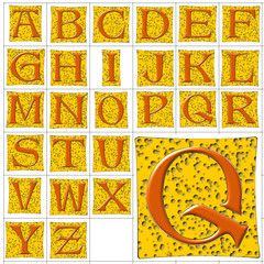 ABC Alphabet background alte cheese design