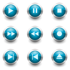 multimedia buttons set