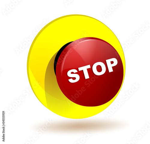 Bouton stop arret d 39 urgence de ascain64 fichier vectoriel libre de droits 34555939 sur - Bouton d arret d urgence ...
