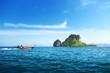 speed boat and Poda island in Thailand