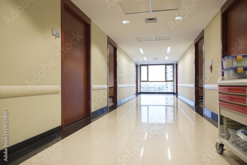 Empty passageway of hospital