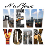 Fototapety NYC New York City Graphic Montage