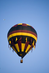 Yellow, Brown and Black balloon