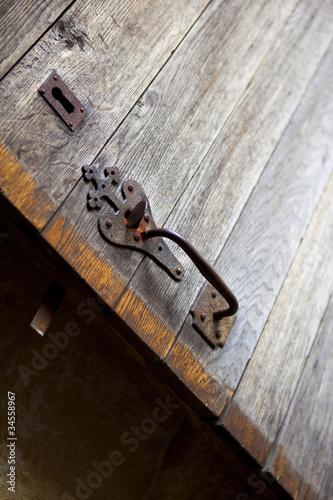 porte ferme vintage serrure loquet bois campagne vieux de jacques palut photo libre de. Black Bedroom Furniture Sets. Home Design Ideas