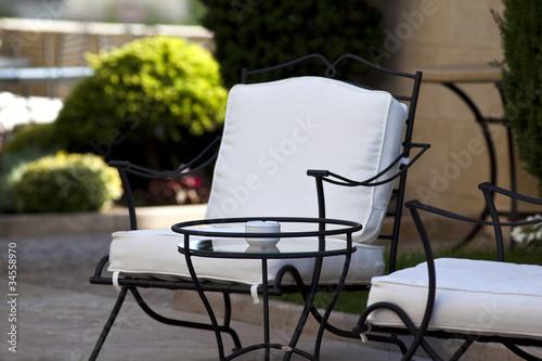 Immobilier, terrasse, luxe, jardin, salon, terrasse, mobilier