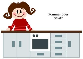 Pommes oder Salat?