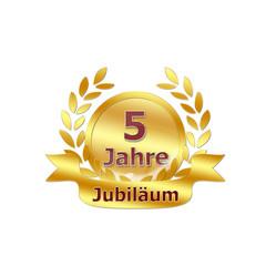 5 Jahre Jubiläum
