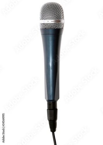 Microphone isolated over white.