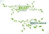 Eco friendly and 100% natural products labels
