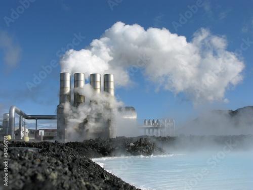 Geothermales Kraftwerk - Erdwärme - 34566781