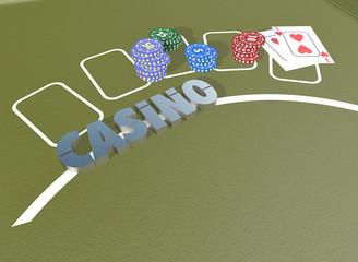 Poker Chips und Karten 2