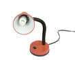 flexible desk lamp with energysaving bulb, isolated