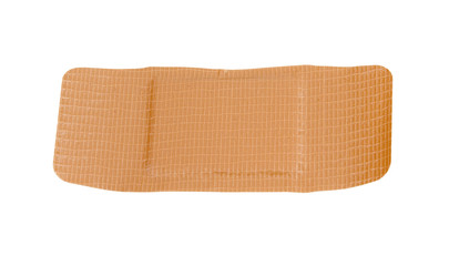 large waterproof bandage on a white background