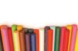 Row of crayons footer