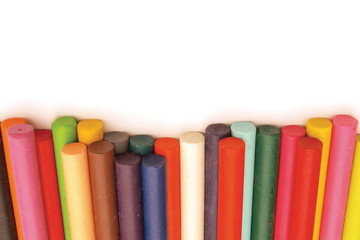 Row of crayons footer
