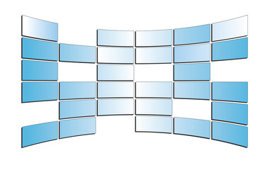 vector light  blue monitors - isolated
