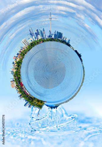 Spheres&water