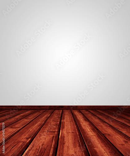innenraum mit holzboden und wei er wand von leitnerr lizenzfreies foto 34571379 auf. Black Bedroom Furniture Sets. Home Design Ideas