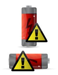 low battery icon illustration design