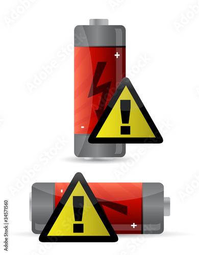 low battery icon illustration design