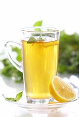 Cup of hot mint tea