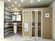 bagno moderno con sauna