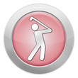 "Light Colored Icon (Red) ""Golfing"""
