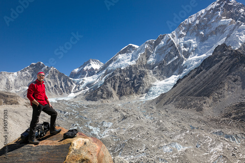 Overlooking the Khumbu Glacier