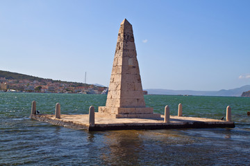 The Obelisk of Argostoli city at Kefalonia island in Greece