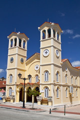 Metropolitan church at Lixouri city of Kefalonia island, Greece