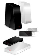 Portable / Desk Hard Disks and USB drive