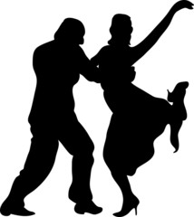 Sagome ballerini tango