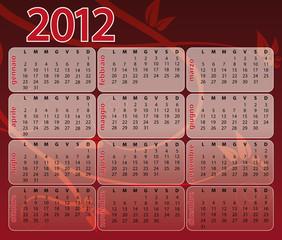 Calendario 2012 red