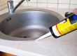 Sink and silicone sealant