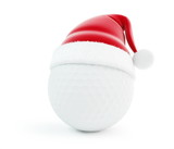 santa hat golf ball