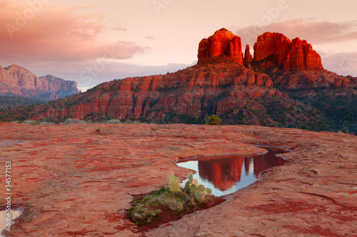 Cathedral Rock Reflection - 34577153