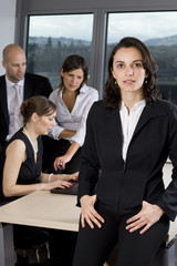 Latin businesswoman in office