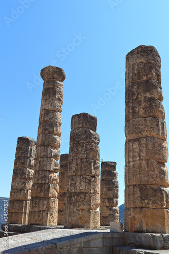 Temple of Apollo at ancient Delphi site in Greece