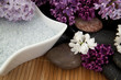 Lilacs and bath salt