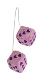 Fuzzy Pink Heart Dice