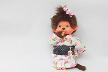 japanese doll with kimono