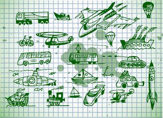 set of transportation vehicles