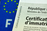 plaque immatriculation, carte grise