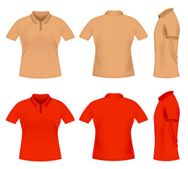 Realistic men's polo t-shirts