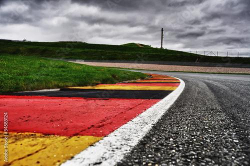 Leinwandbild Motiv Sachsenring Curbs HDRI