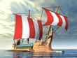 Rudergetriebenes Kriegsschiff - 34584534
