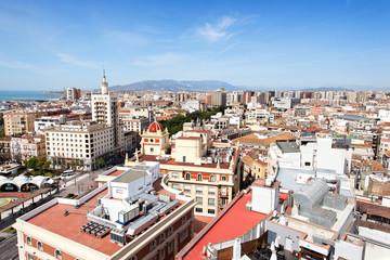 Blick auf Malaga, Spanien