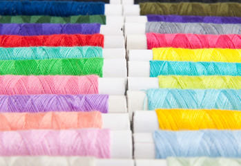 Colored threads for sewing machine