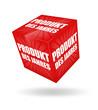3d würfel produkt des jahres rot weiß