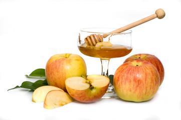 honey with apple for Rosh Hashanah
